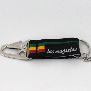 chaveiroReggaec 300x300 - Chaveiro Las Magrelas colorido com gancho p/ mochila - reggae