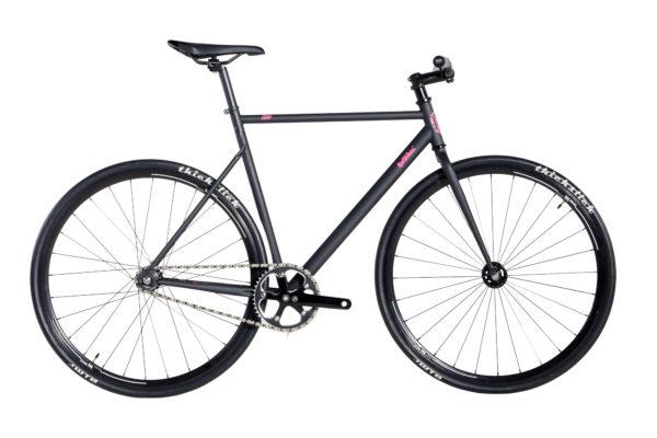 bike cr mo over 2020 preto fosco grafismo pink aros 30mm preto tam 5056 20200313152139 - Bicicleta RAF Lina Over CR-MO 2020