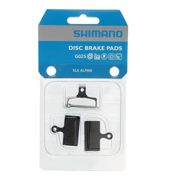 pastilhas freio alfine - Pastilhas de freio Alfine SLX G02S resina Shimano c/ mola